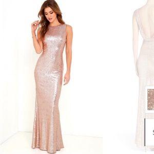 Lulu's rose gold sequin gorgeous evening dress🧡